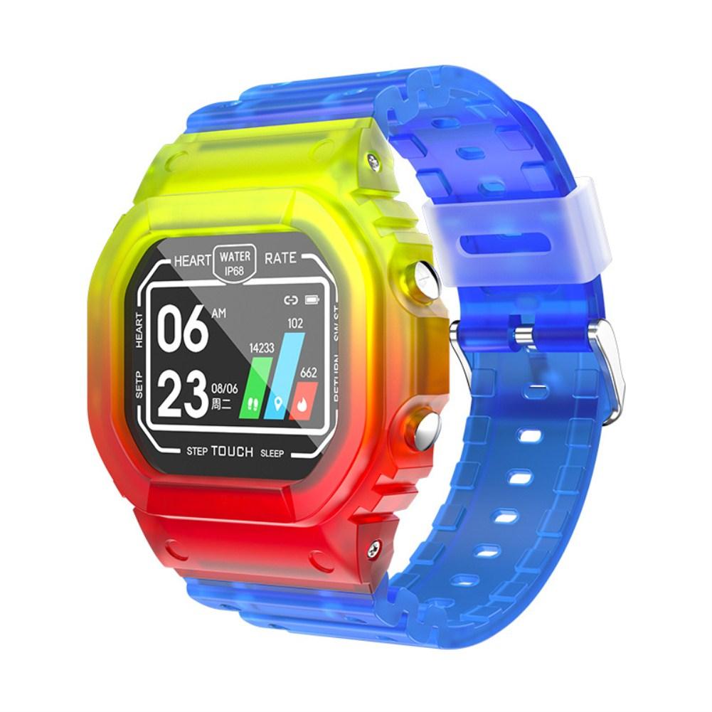 K16 Smart Bracelet Heart Rate Sleep Monitoring Fitness Tracker Waterproof Multifunctional Silicone Watch colorful