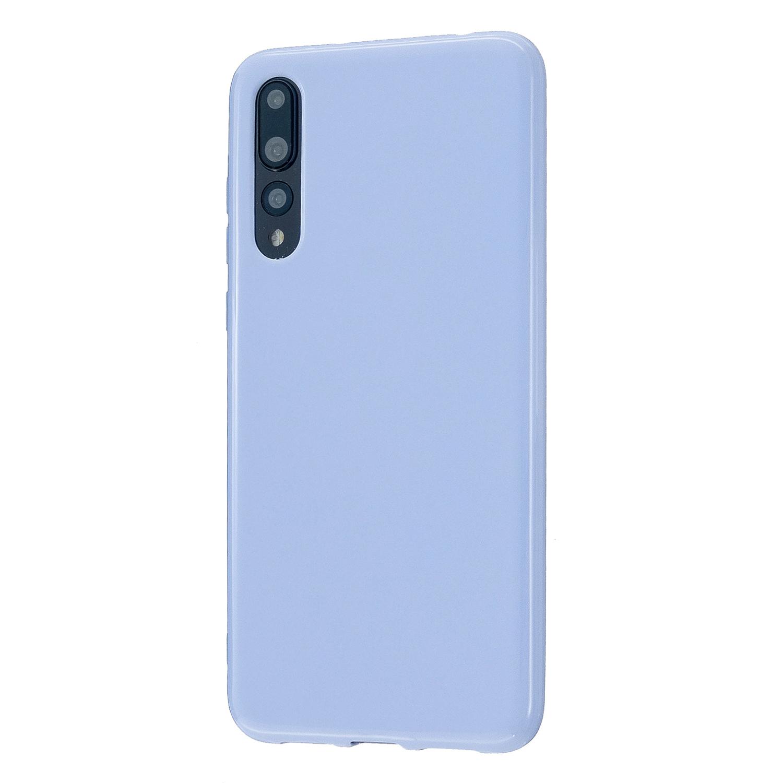 For HUAWEI P20/P20 Lite/P20 Pro Cellphone Case Simple Profile Soft TPU Phone Case Anti-Slip Smartphone Cover Taro purple