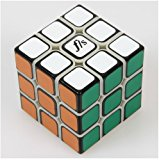 [EU Direct] New 5.46cm Fangshi (Funs) Shuang Ren 3x3 Speed Cube Puzzle 3x3x3, Black Based Sticker on Primary Body,