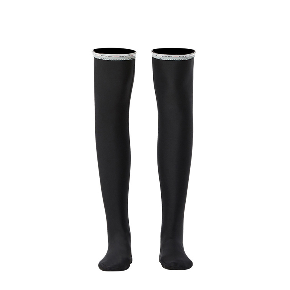 1.5MM Siamese Wet-type Warm Long Sleeve Jellyfish Swimming Surfing Stocking Suit Black stockings_S