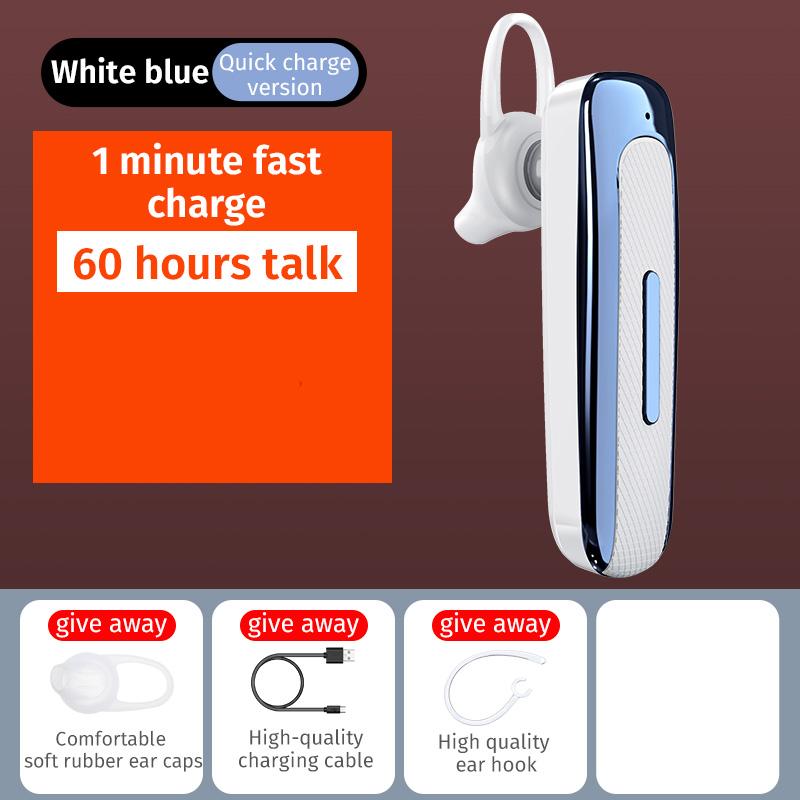E03 Smart Wireless  In-ear  Earphones Mobile Phone Universal Driving Business Mini Bluetooth Headset White blue