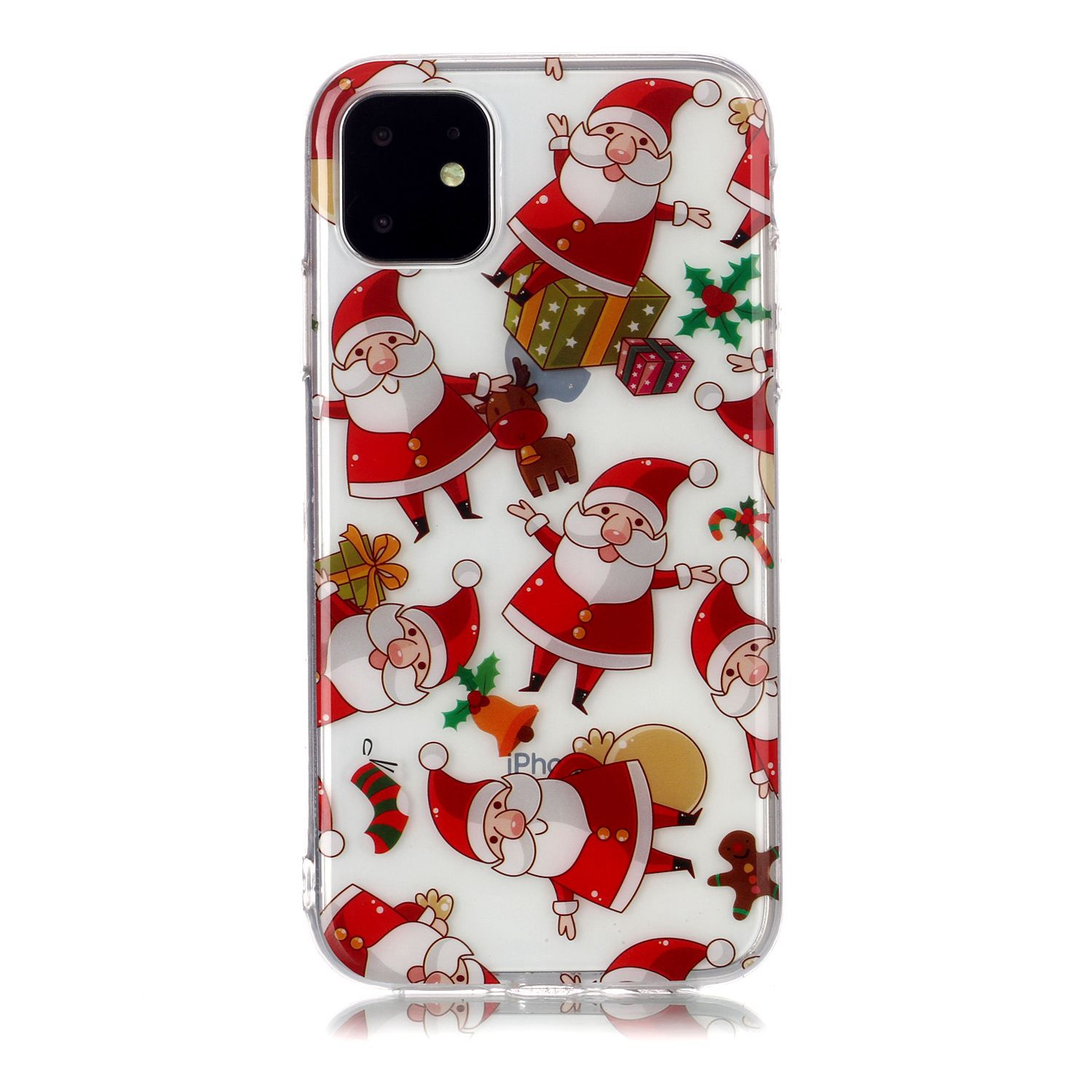 For Apple iPhone11 Mobile Shell Soft TPU Phone Case Smartphone Cover Elk Snow Christmas Series Pattern Protective Shell