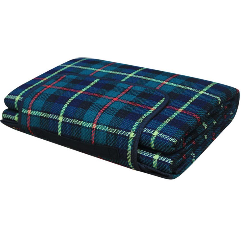 Outdoor Beach Picnic Folding Camping Mat Waterproof Sleeping Camping Pad Mat Moistureproof Plaid Blanket green_200 * 150