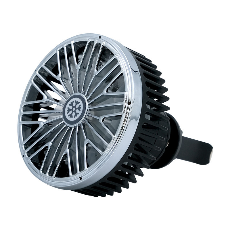Multi-function Electric Fan Air Outlet Powerful Cooling Car  7691 black