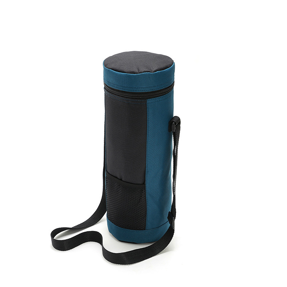 Coke Bottle Ice Pack Insulated Bottle Bag Cooler Bag Waterproof Thermal Ice Lunch Bag Navy