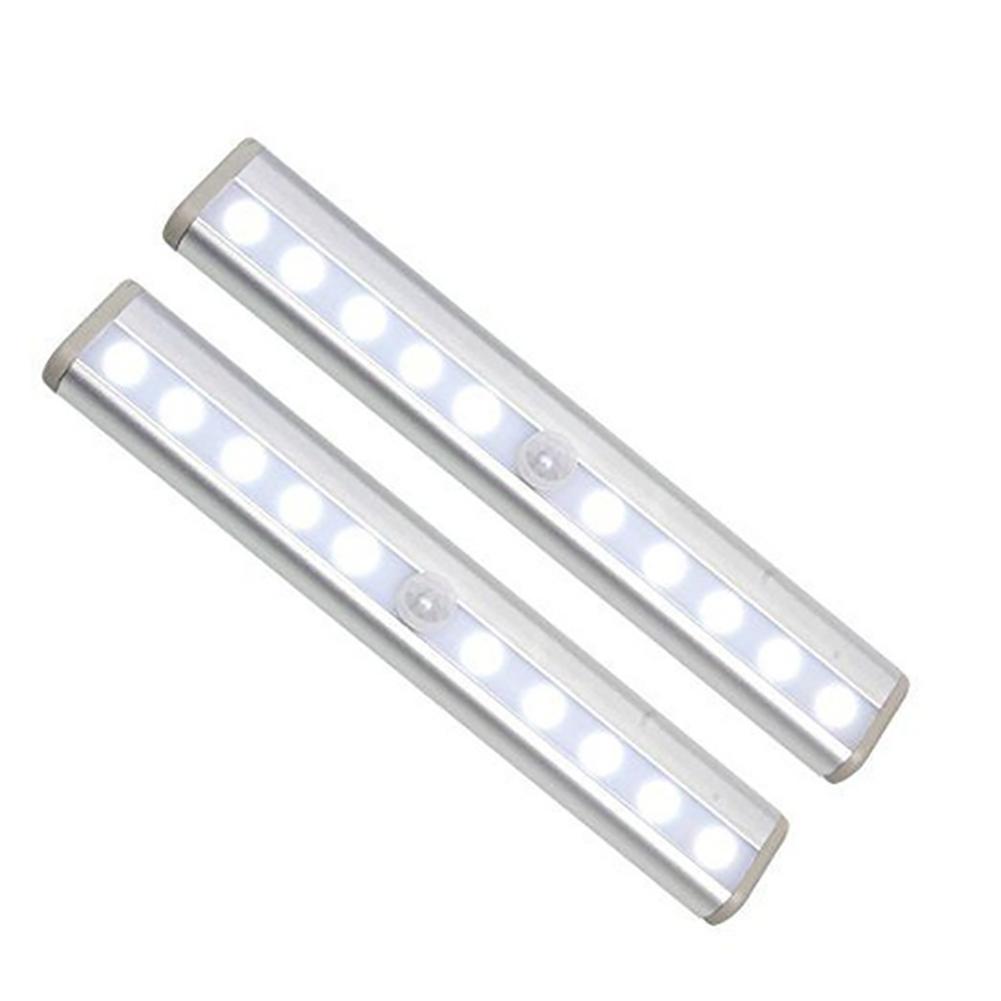 Intelligent Body Induction USB Charging Night Light for Corridor Cabinet Wardrobe White_1A ten light charging