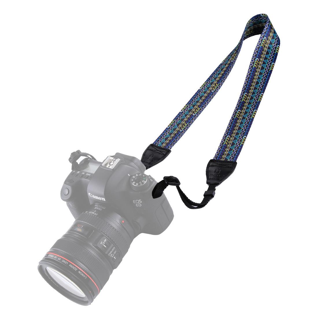 PULUZ Retro Ethnic Style Shoulder Neck Strap Camera Strap Belt for Sony Canon SLR DSLR Cameras  PU6008A