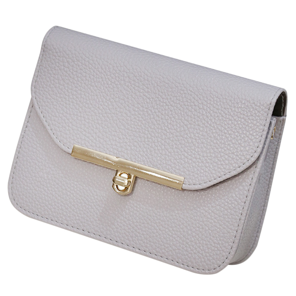 Fashionable Women's PU Leather Chain Satchel Haversack Clutch Shoulder Bag Handbag Organizer Daily Thing Holder