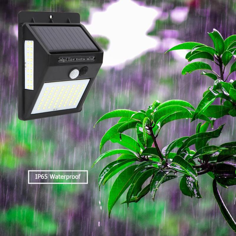 100LEDs UP65 Waterproof 3 Sides Luminous Solar Motion Sensor Wall Light with Light Control 64+18+18LED (people running out of lights) is expected to ship on September 5th