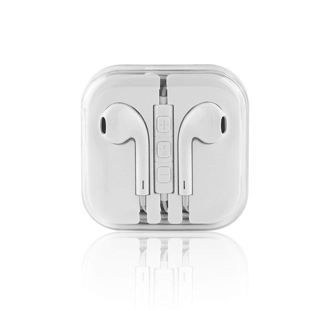 Abs 3.5mm Wired Headset For Mobile Phone Computer Universal Earphones In-ear Earphones With Mic White