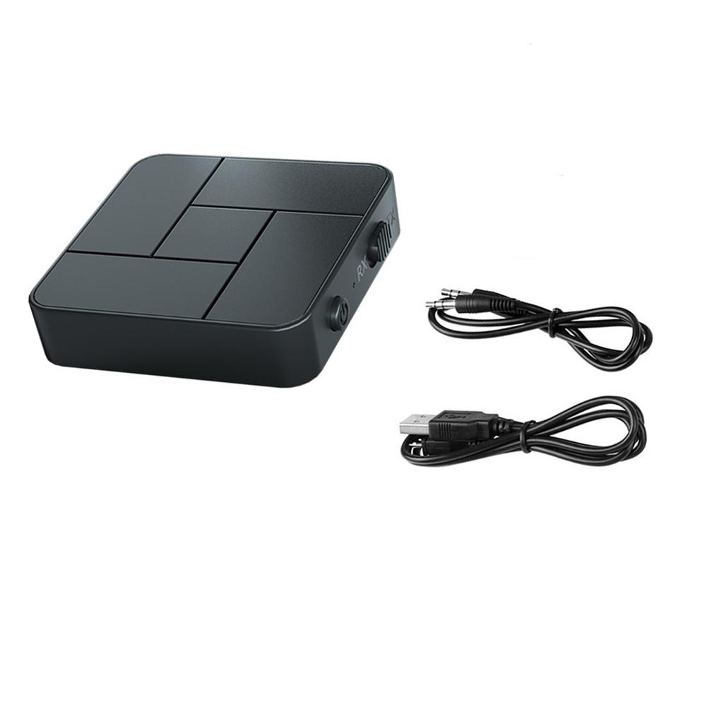 2-in-1 Bluetooth 5.0 Receiver Transmitter Tv Computer Projection To Wireless Earphone Amplifier Speaker Single line type