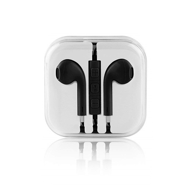Abs 3.5mm Wired Headset For Mobile Phone Computer Universal Earphones In-ear Earphones With Mic Black