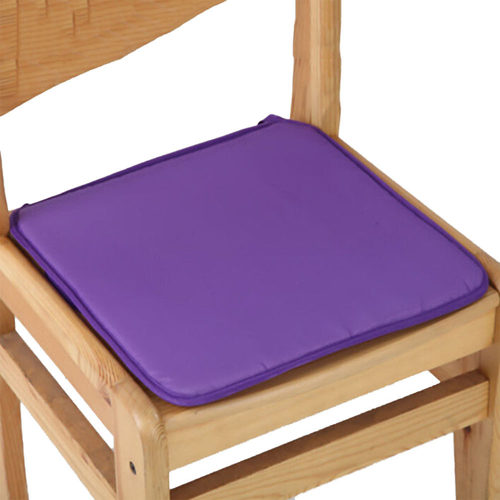 40X40CM Candy Colour Tie-on Type Soft Chair Cushion Seat Pads Garden Dining Office Home Decor  purple_40X40cm
