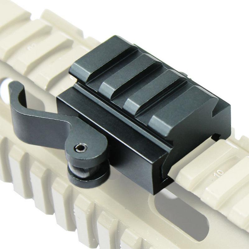 40mm Tactical Quick Release Bracket 3-Slot Rifle Picatinny Weaver Universal Adaptor Riser Rail