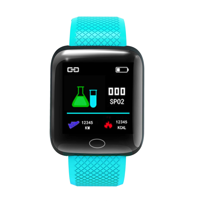 D13 Smart  Bracelet Step Heart Rate Blood Pressure Sleep Alarm Clock Usb Charge Color Screen Smart Bracelet green
