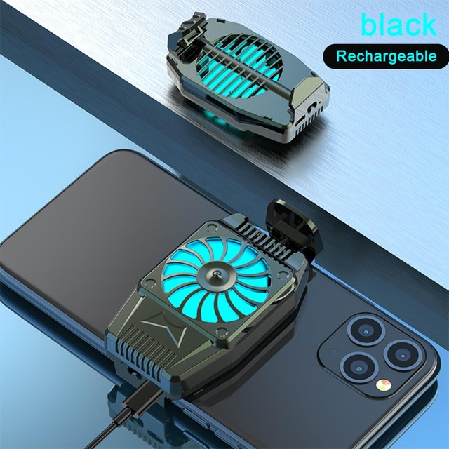 Universal Mini Mobile Phone Cooling Fan Radiator Turbo Game Cooler Cell Phone Cool Heat Sink black