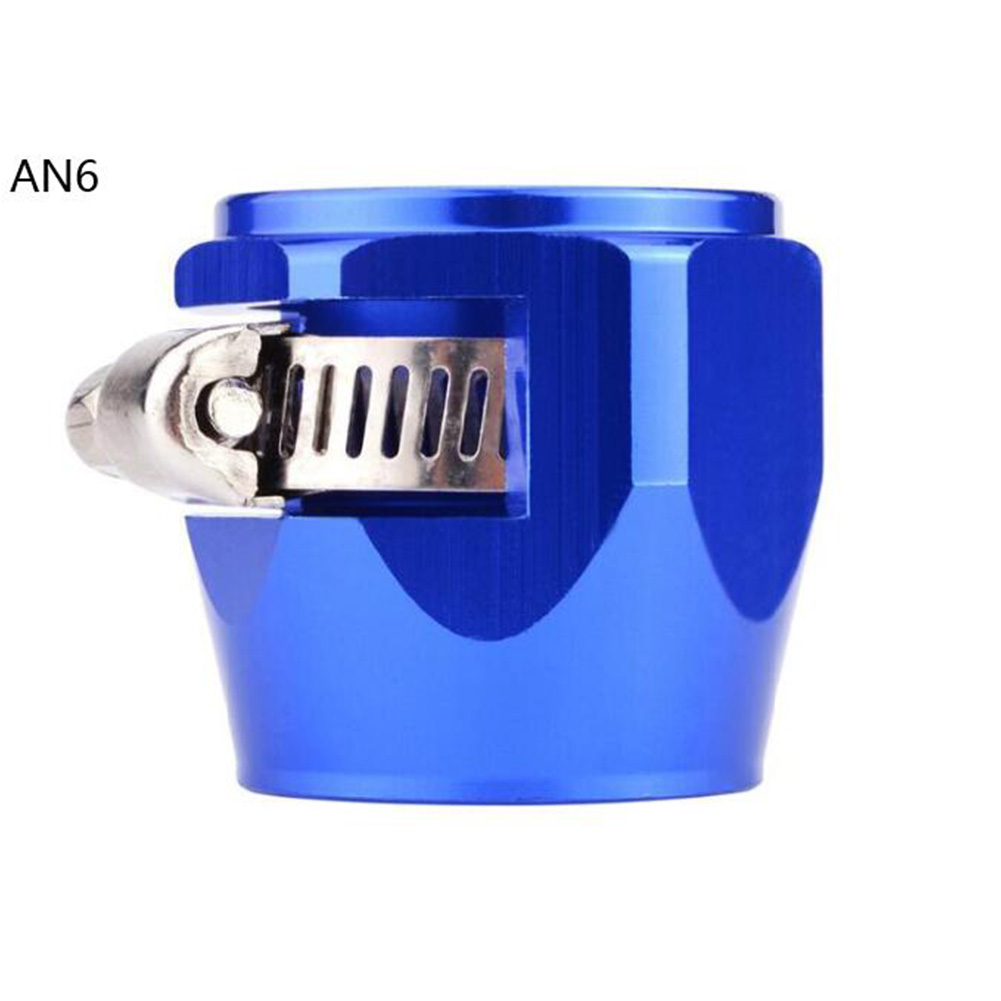 AN4 AN6 AN8 AN10 AN12 Car Hose Finisher Clamp Radiator Modified Fuel Pipe Clip Buckle Blue-AN6