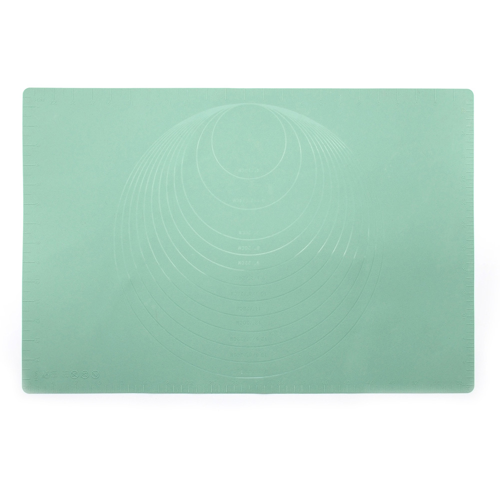 24Inch Pastry Rolling Mat with Scale Non-Stick Nonslip Flour Pad for kitchen Kneading Dough Pad green