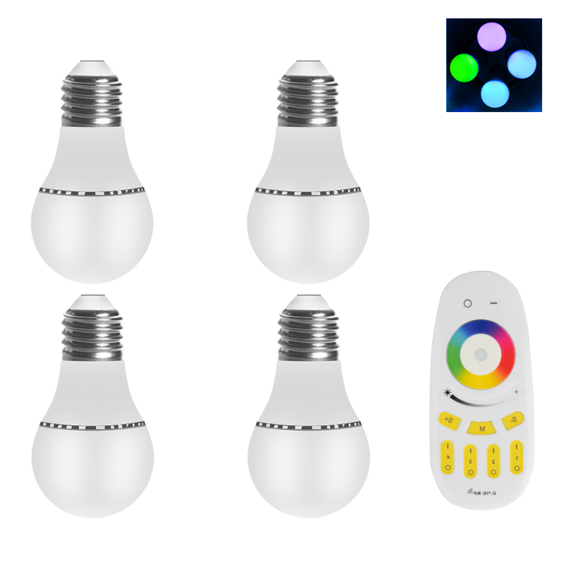 4 RGBW LED Light Bulbs