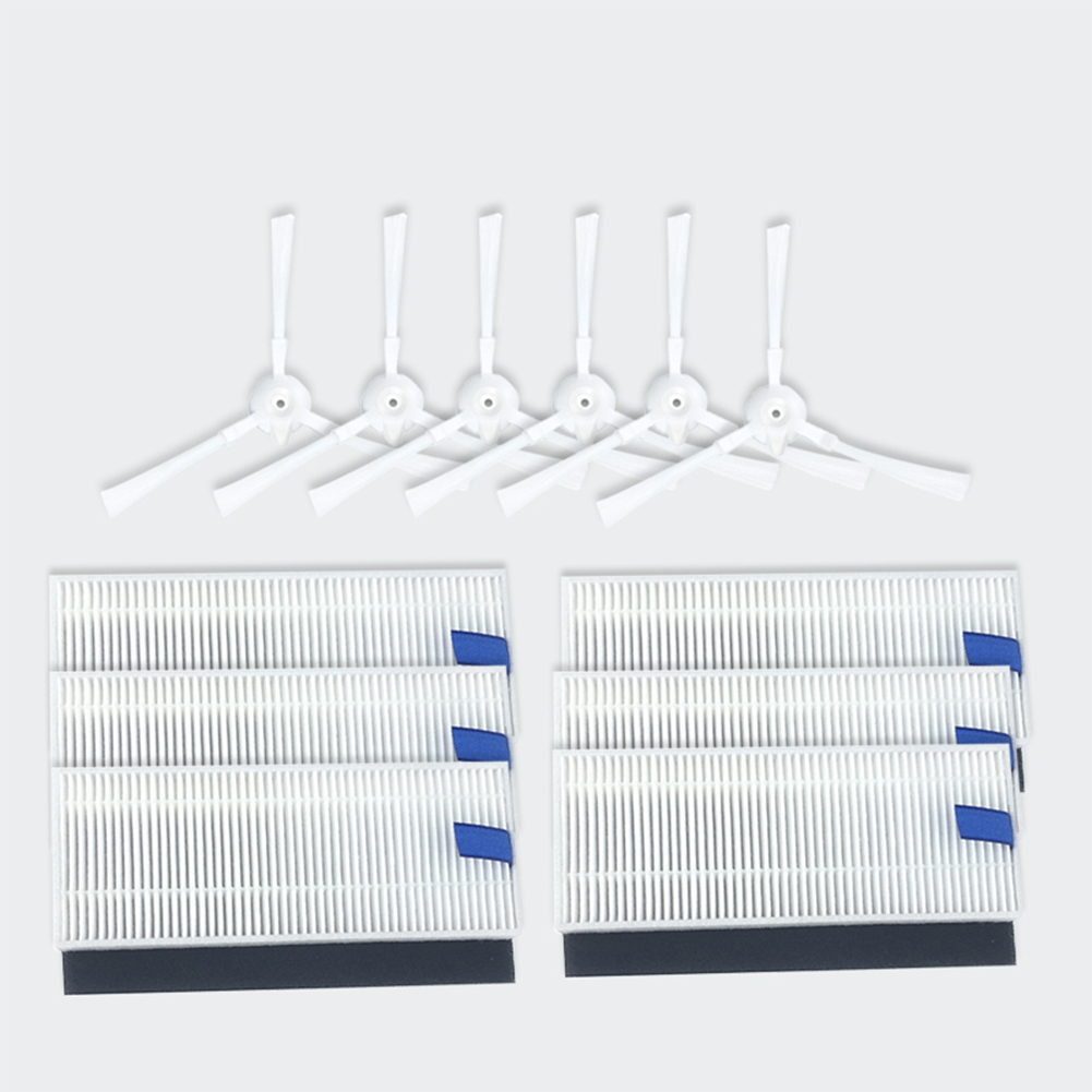 3 Pairs Side Brushes+6 Filters Set for 360 S6 Robot Vacuum Cleaner Accessaries Suit