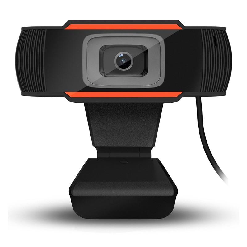 HD Webcam 720p USB Camera Video Recording Web Camera With Microphone For Pc Computer Black + orange_720P