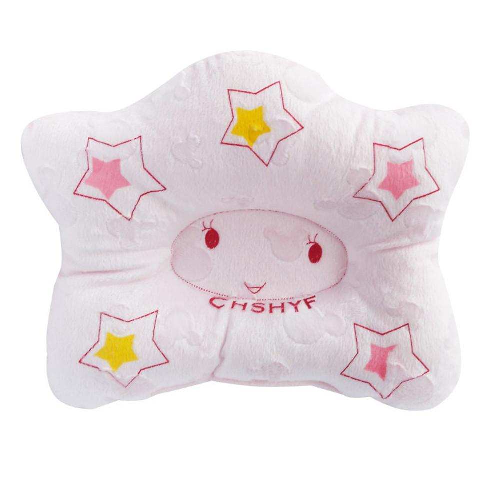 Baby Pillow Corrective Head Star Shape Pillow Infants Supplies Pink