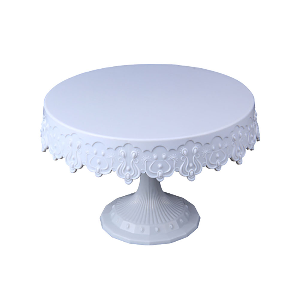 Metal Iron Cake Stand Round Pedestal Dessert Holder Cupcake Display Rack Bakeware White Birthday Wedding Party Decoration white