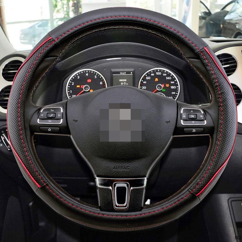 1 Pcs Universal Car Steering Wheel Cover Breathable Anti- Slip Comfortable Fit Diameter 36cm 38cm 40cm
