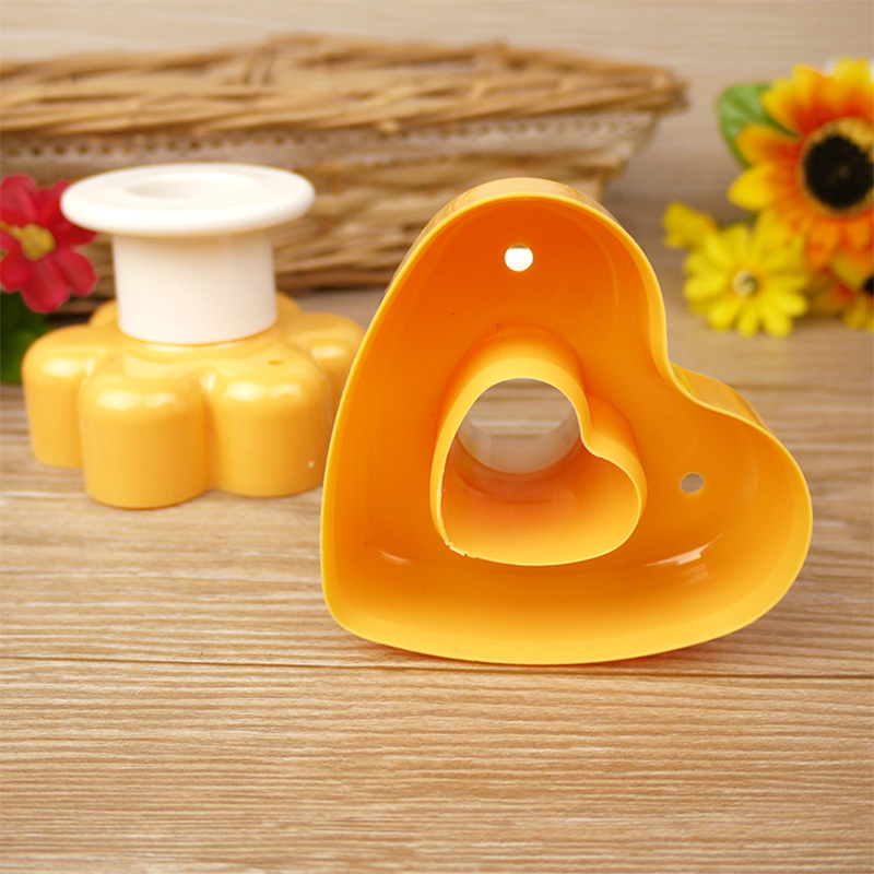 Two-Colour Doughnut Mold Cake Mold Cutter Cookie Bread Chocolate Candy Molds  heart-shaped