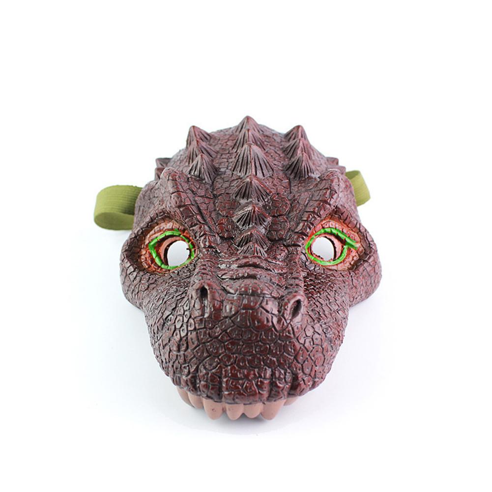 Simulation Dinosaur Mask Model Halloween Funny and Prank Toy Tyrannosaurus Rex Triceratops Tyrannosaurus mask