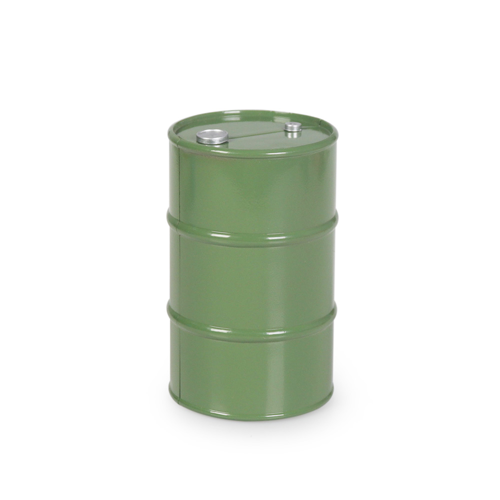 Metal Oil Drum For 1/10 RC Tracked Axle SCX10 90047 TAMIYA CC01 D90 D110 TF2 Traxxas TRX4 KM4 Simulation Decoration green