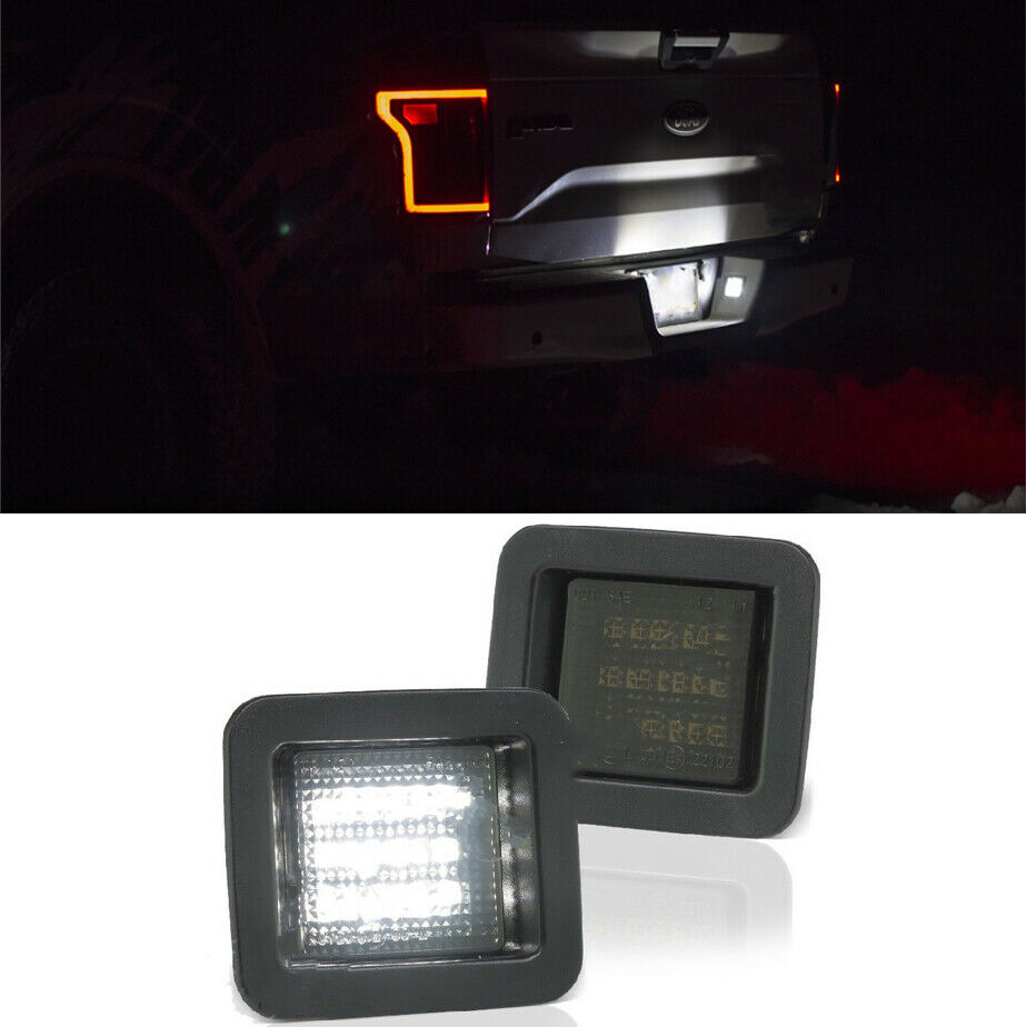 For 2015-2018 Ford F150 High Power LED Smoke License Plate Light Bulb Assembly