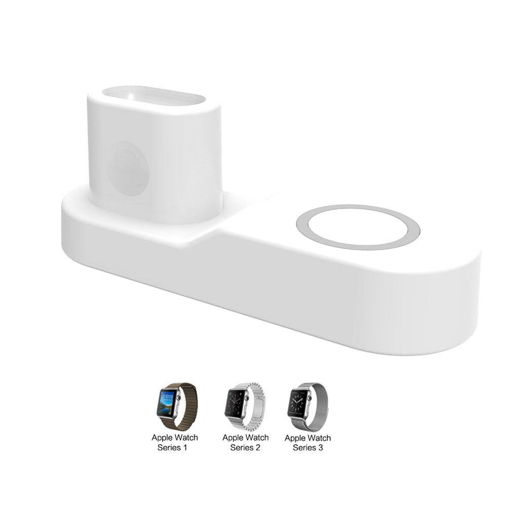 4 in 1 Wireless Charger for iphone X XS MAX XR 8 8 Plus 10 Samsung Gaxary S9 S8 Plus Apple AirPods iwatch 2 3 Accessory White EU Plug