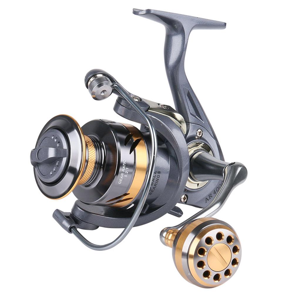 Spinning Reel Fishing Reel Metal Knob Metal Large-capacity Spool Rock Sea Fishing Reel AR4000