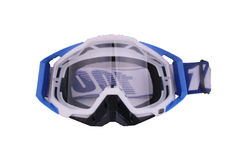 Motocross Goggles Motorcycle Glasses Racing Moto Bike Cycling Gafas Sunglasses  Blue white + black