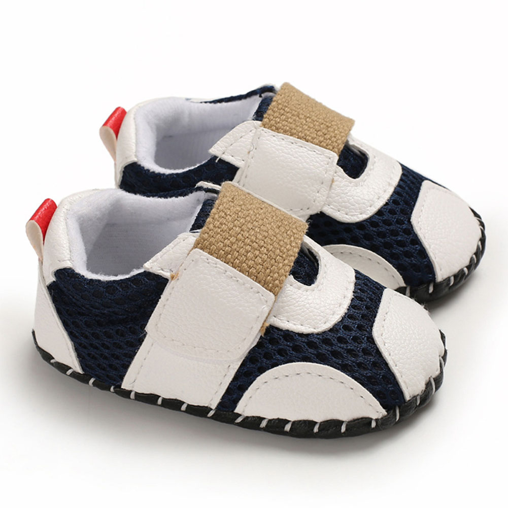 0-1 Years Baby Infant Boys Soft Rubber Sole Shoes Sports Mesh Cloth Breathbale Shoes with Magic Sticker  white_13 cm inside length