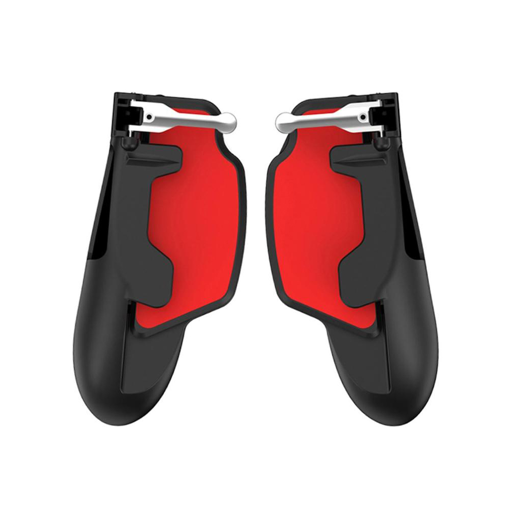 iPad Tablet Game Controller Gamepad Trigger Fire Button Aim Key Joystick for PUBG mobile Black red