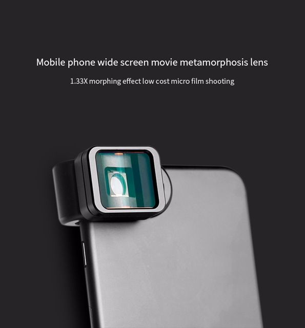Universal Clip 1.33X Deformation Widescreen Phone Lens for iPhone Android  As shown