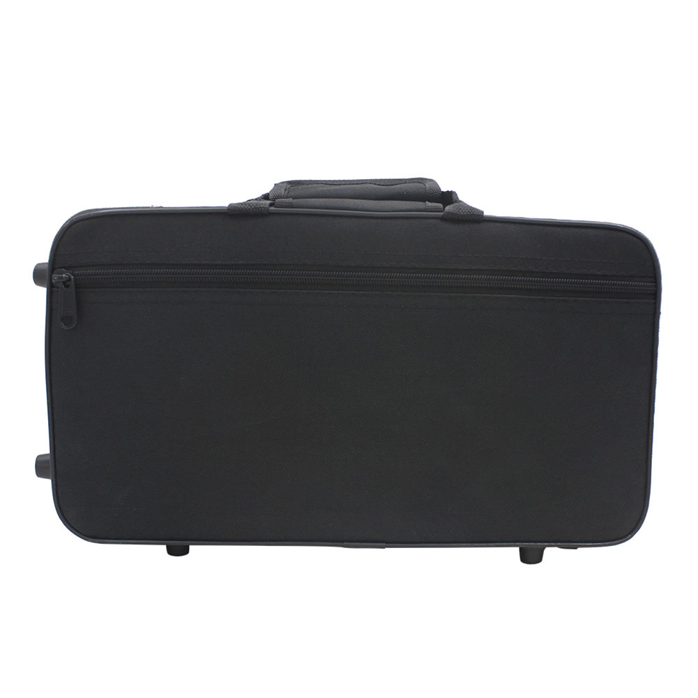 Water-resistant Oxford Cloth Gig Bag Box for Clarinet with Adjustable Single Shoulder Strap Pocket Foam Cotton Padded black