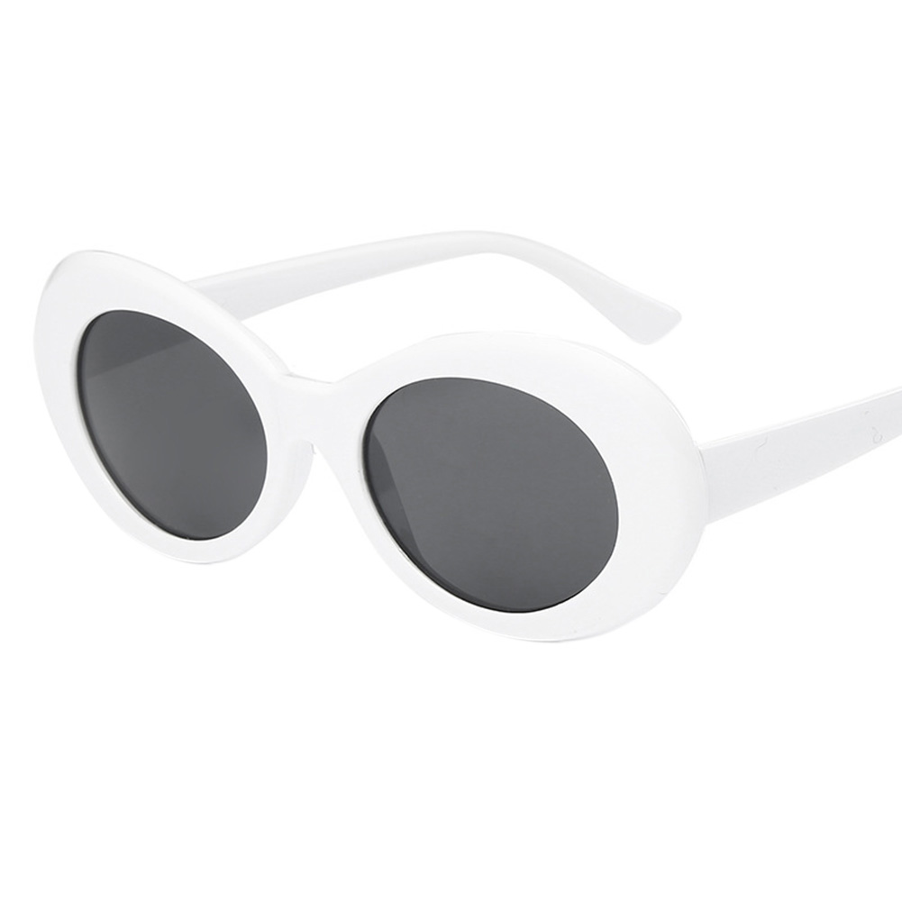 [Indonesia Direct] Vintage Oval Round Sunglasses Men Women UV400 Shades Mirrored Glasses Lens