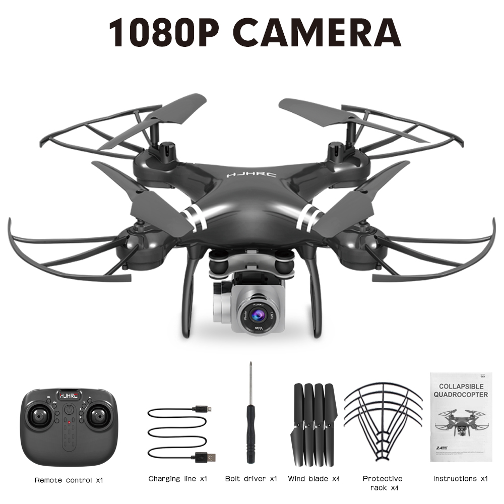 HJ101 Wifi Camera Air Pressure Fixed Height Face Recognition Drone Black 1080P+ face recognition