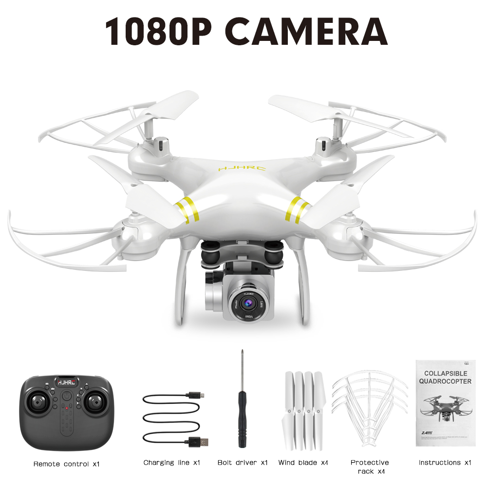 HJ101 Wifi Camera Air Pressure Fixed Height Face Recognition Drone White 1080P+ face recognition