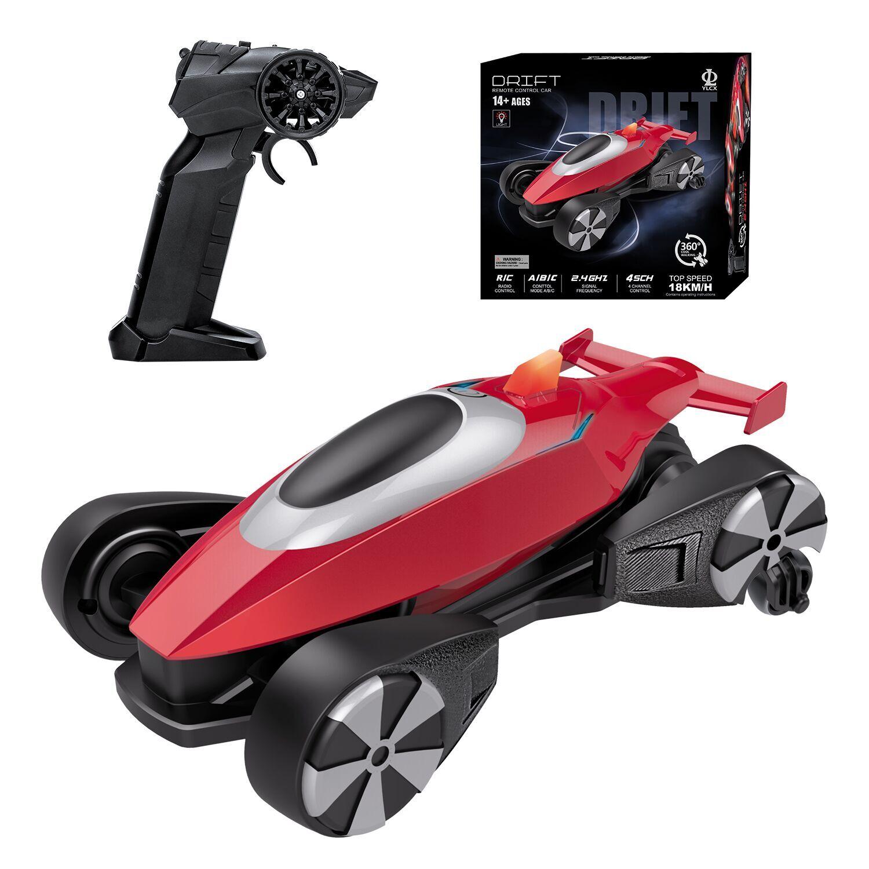 P-912 Drifting Remote Control Car Lateral Stunt Car 360 Degree Light Rotating Drift Car Toy 2 battery