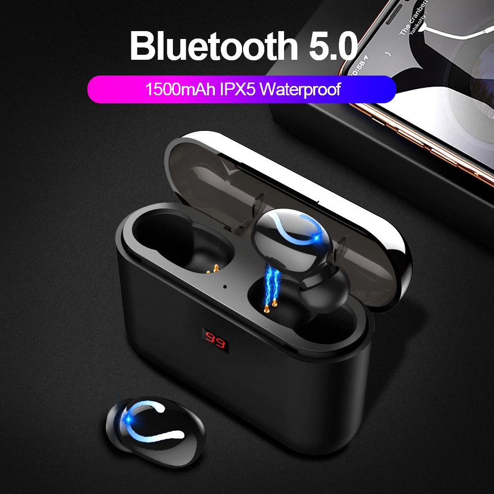 TWS Bluetooth 5.0 Blutooth Earphone Wireless Headphones for Phone True Wireless Stereo Headphone Sport Handsfree Earbuds