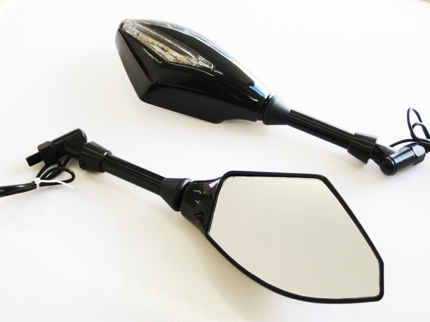 1 Pair 10mm 8mm Motorcycle Rear View Mirrors