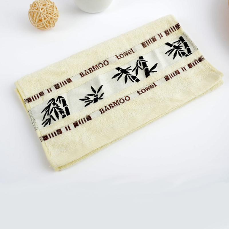 [EU Direct] Adeeing Towels Bamboo Fiber 14''x30'' Absorbent Smooth Soft Cotton Hand Towel Gym Towel Bath Towel Wash Cloths Washcloths,White