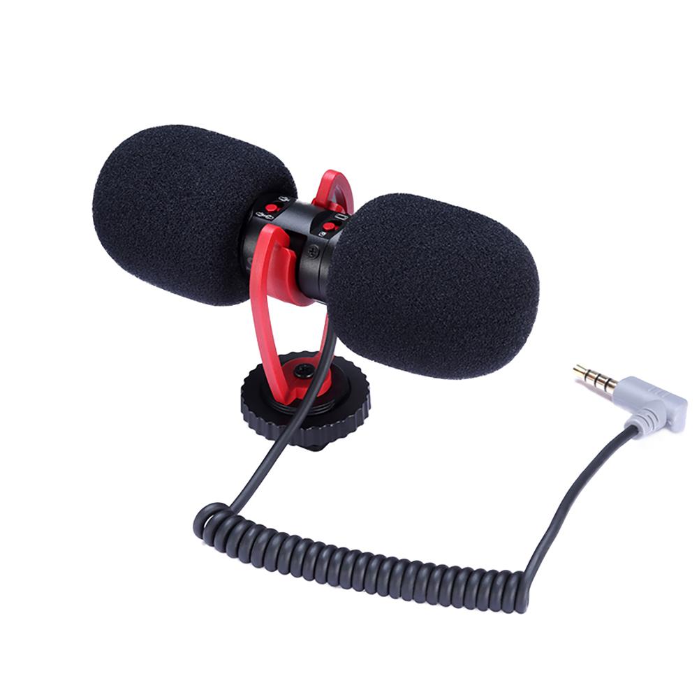 T-mic Camera Dual End Microphone Vlog Directional Directional Microphone Compatible With Mobile Phones Cameras Recording Pens black
