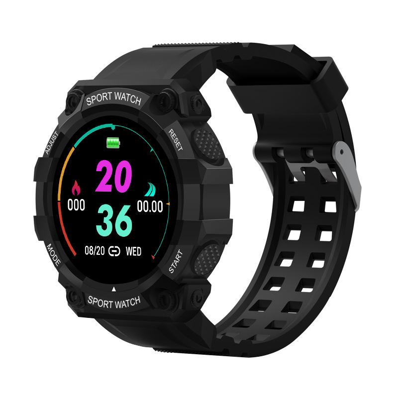Fd68s Long Standby 1.44 Inch Smart  Bracelet Sports Heart Rate Blood Pressure Monitoring Bracelet Black