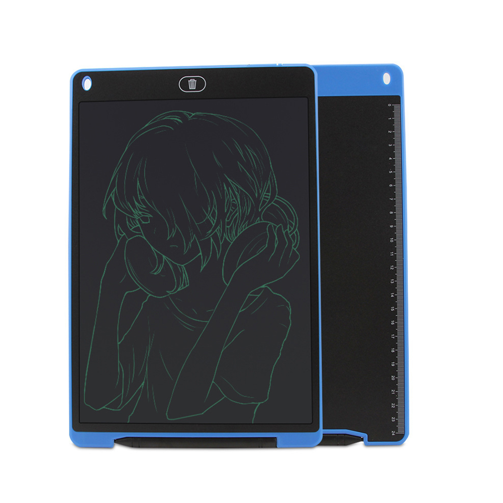 12 Inches LCD Writing Tablet Digital Handwriting Pads with Pen blue