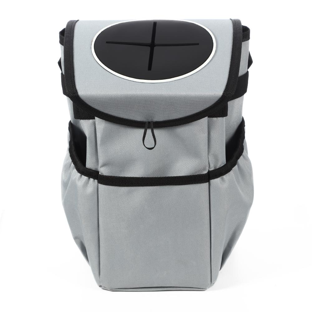 [US Direct] Car trash bag Grey acekool bran